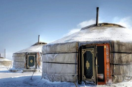 mongolia experiences winter