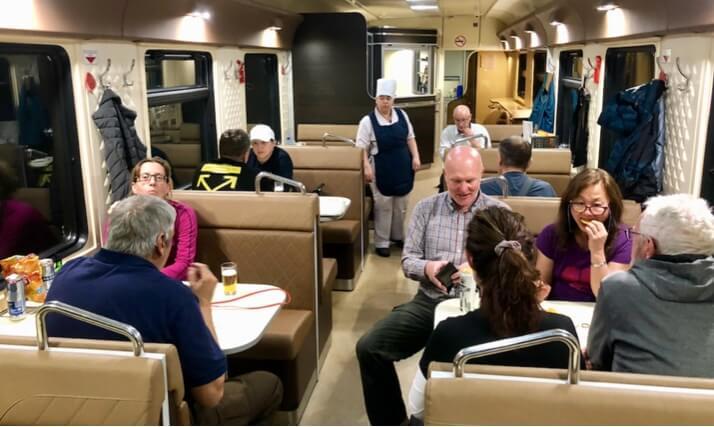 trans-siberian train dining car 2