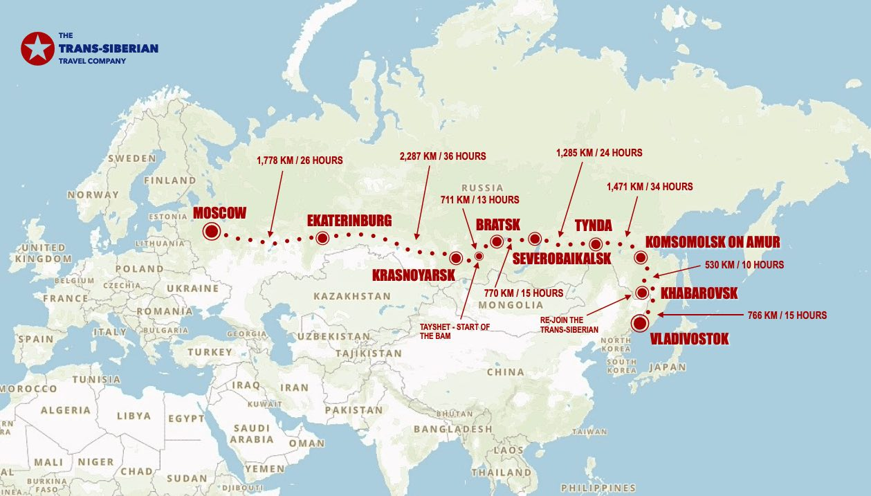 BAM eastbound map