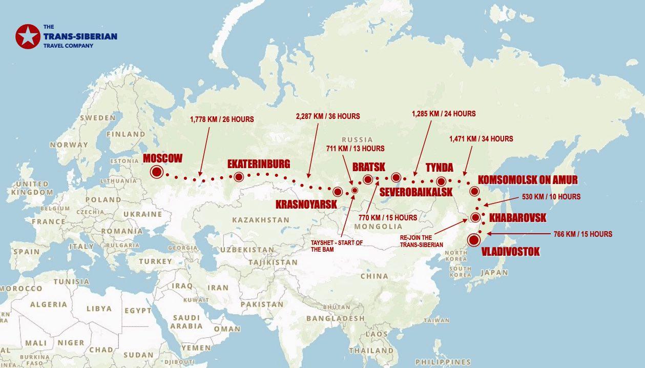 BAM westbound map