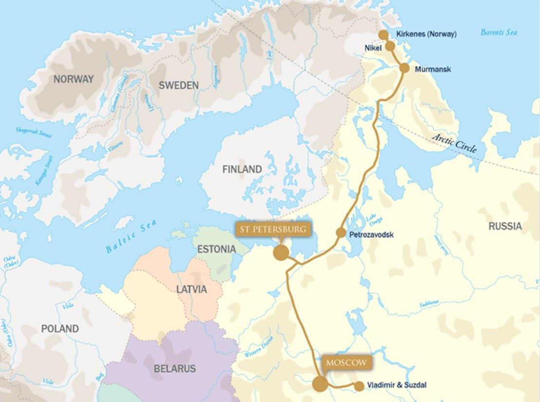 Golden Eagle arctic explorer february map