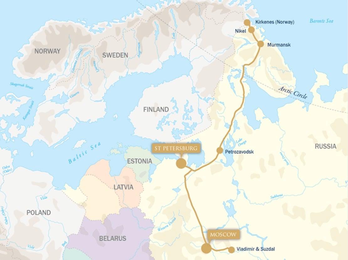 Golden Eagle arctic explorer new year map