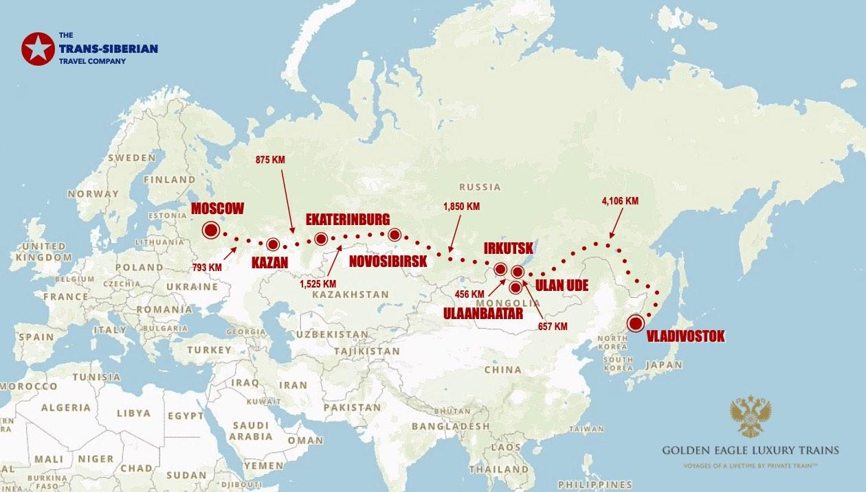 Golden Eagle moscow vladivostok map