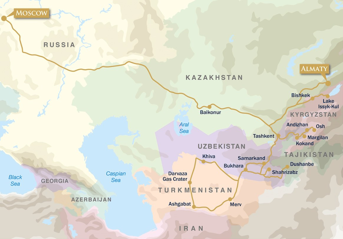 Golden Eagle republics silk road moscow map