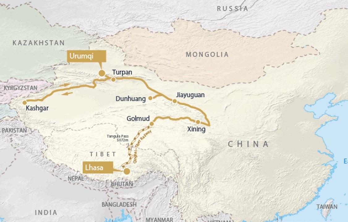 Golden Eagle shangri la express map