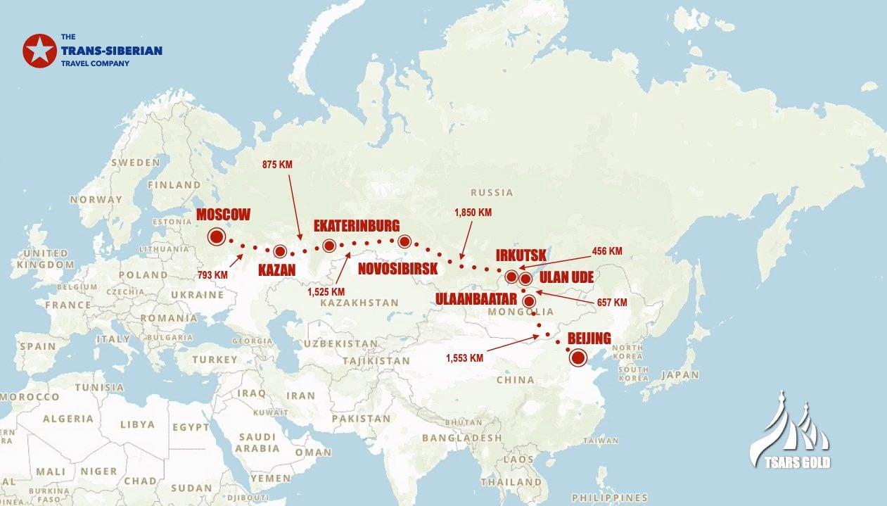 Tsars Gold Beijing Moscow map