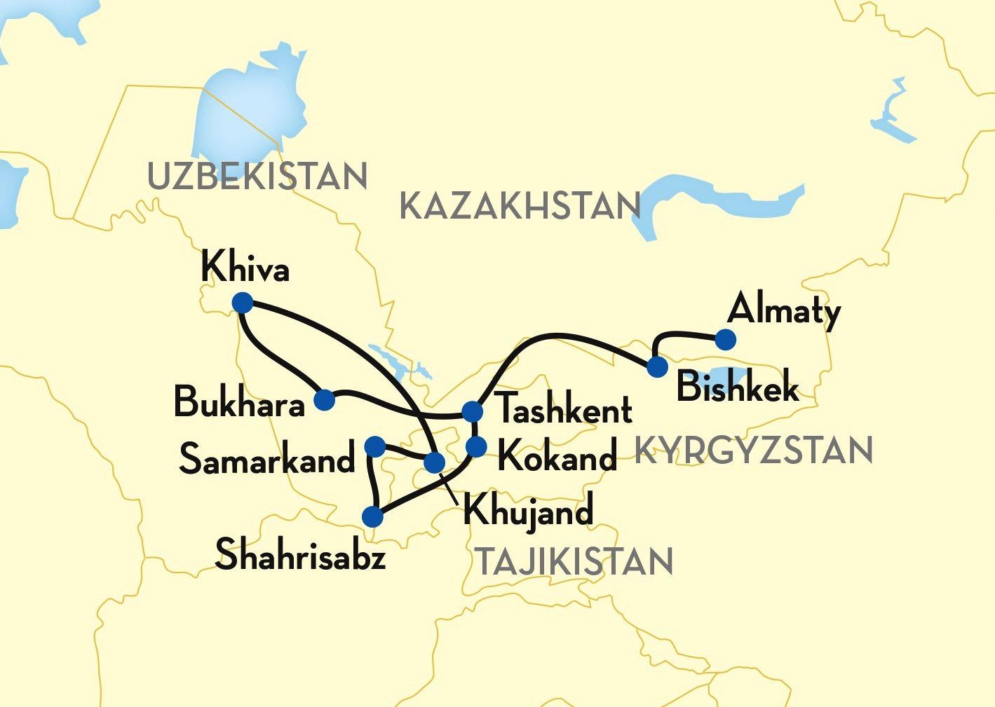 Tsars Gold great silk road map