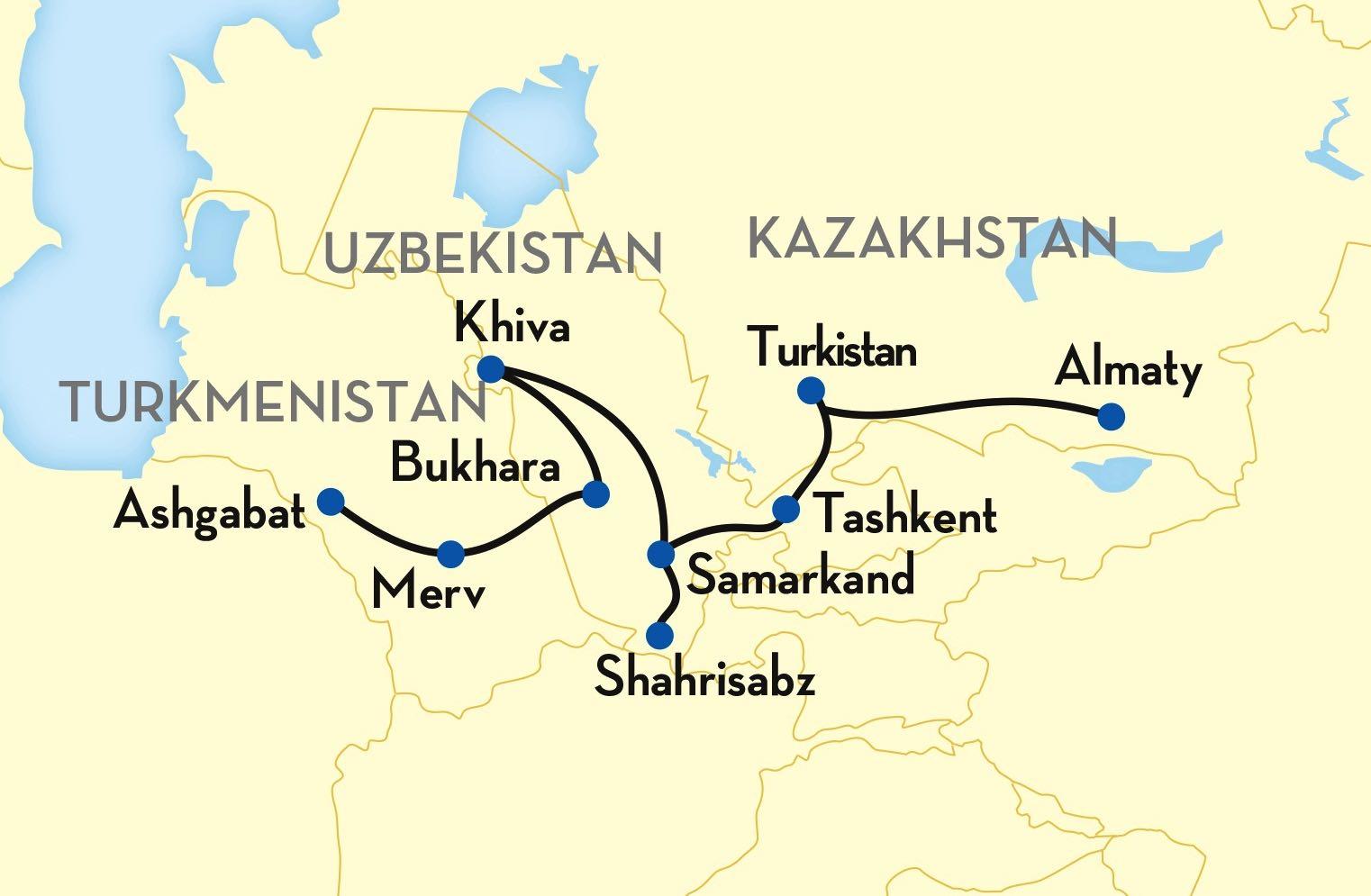 Tsars Gold ledgendary silk road map