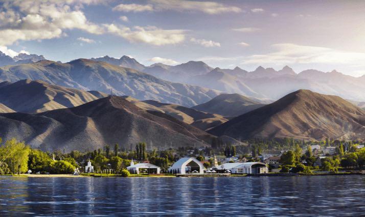 central asia lake issyuk kul