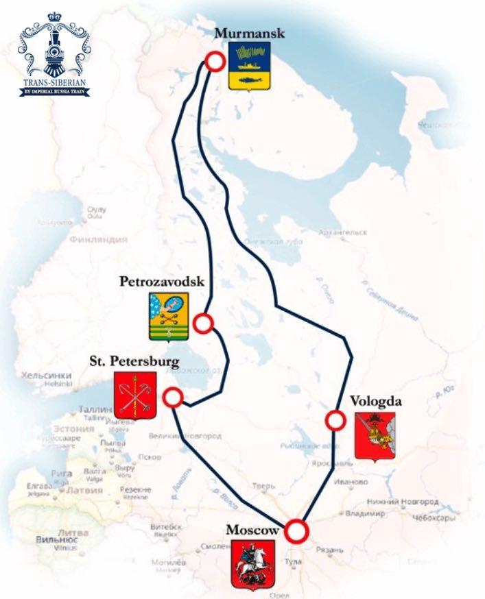 imperial russia vladivostok arctic circle map